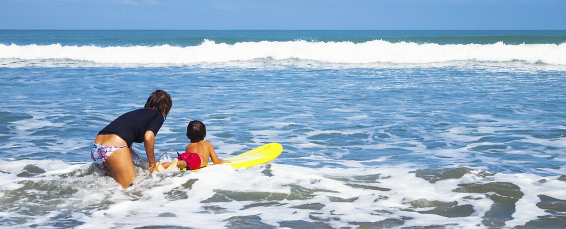 Kleiner Surfer