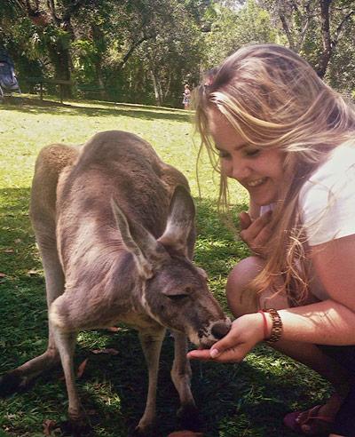 Katharina mit Känguru